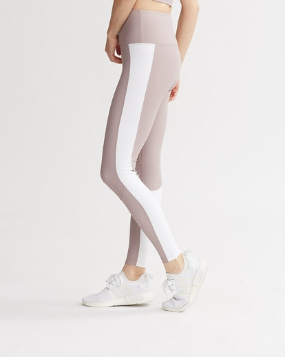 Levee Leggings Mauve & White Combo