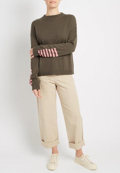 100% Cashmere Striped Cuff