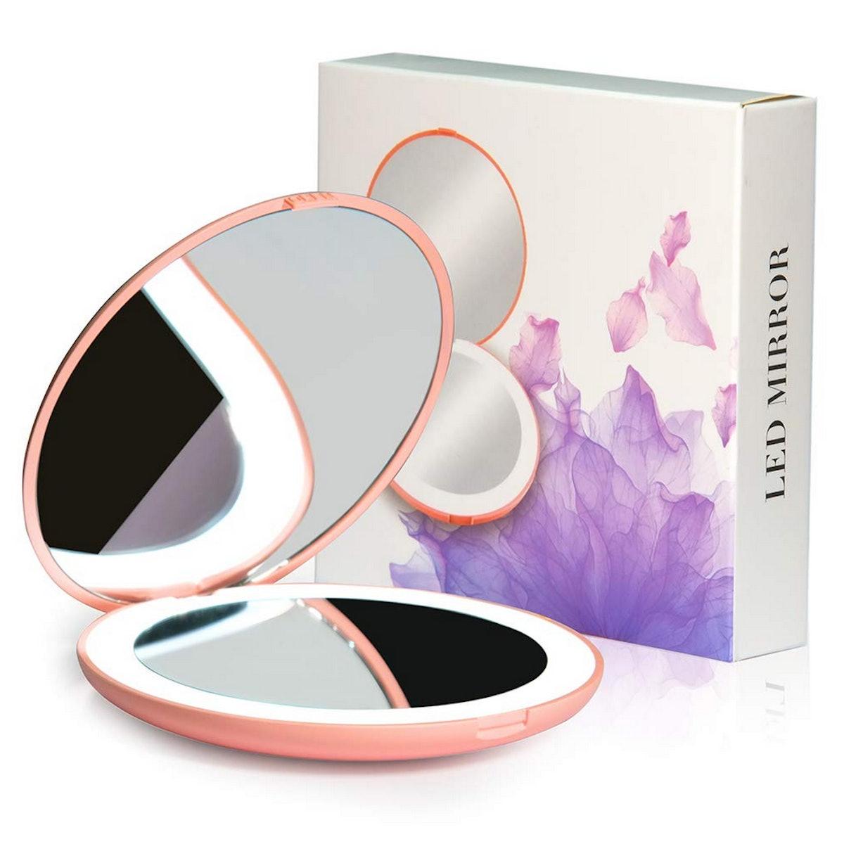 WOBANE LED Travel Compact Mirror