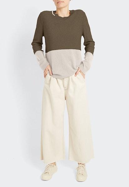 100% Cashmere Color Block Pull