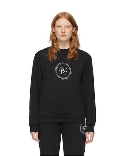 Black 'Wellness' Sweatshirt