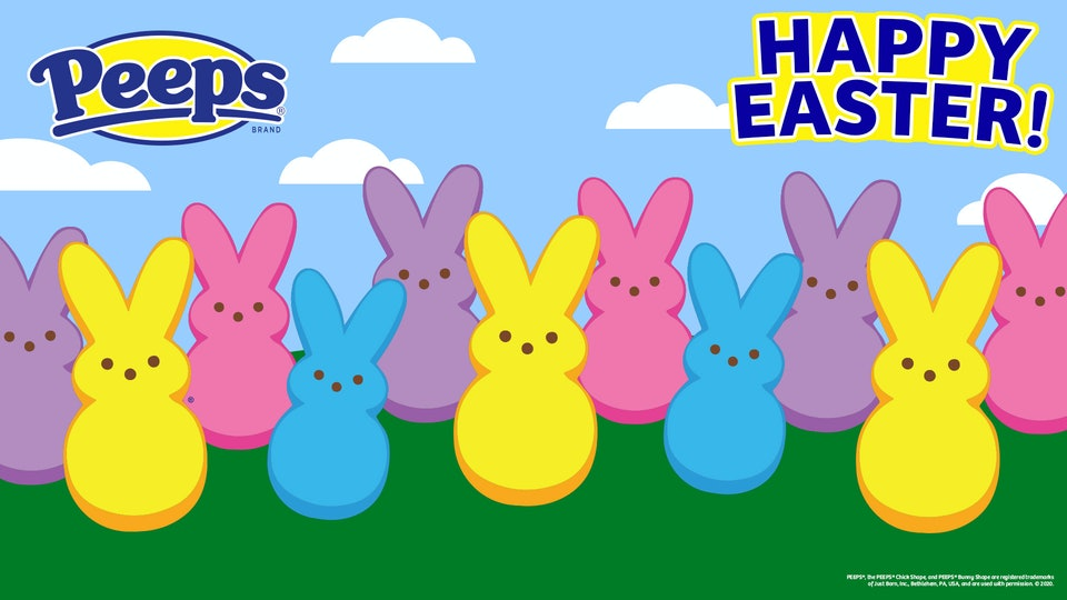 PEEPS branded Zoom backgrounds are the perfect way to sweeten up your Easter Zoom call.