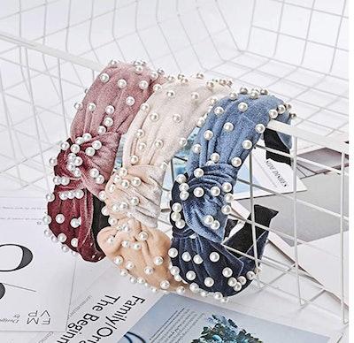 Yeaplike Velvet Wide Headbands (3-Pack)