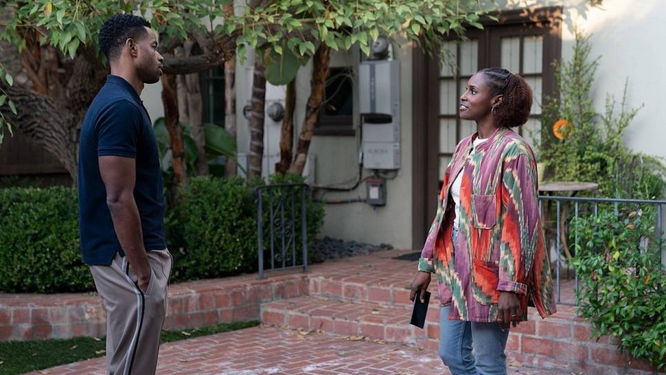 Lawrence (Jay Ellis) and Issa (Issa Rae) in 'Insecure' Season 4