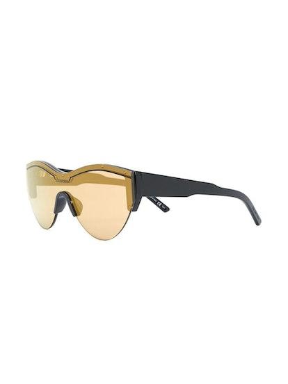 Cat Eye Logo Sunglasses Yellow
