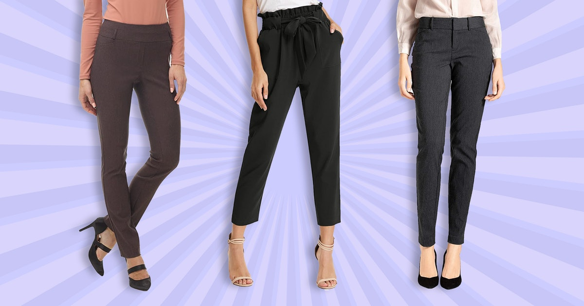 7 Comfy Dress Pants That Are WFH-Approved — & Are All Under $35 On Amazon