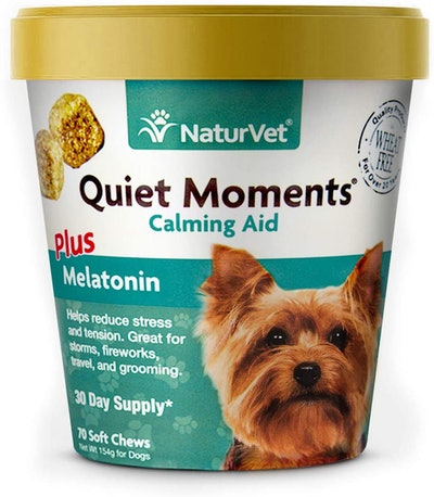 NaturVet Quiet Moments Calming Aid For Dogs (70 Soft Chews)