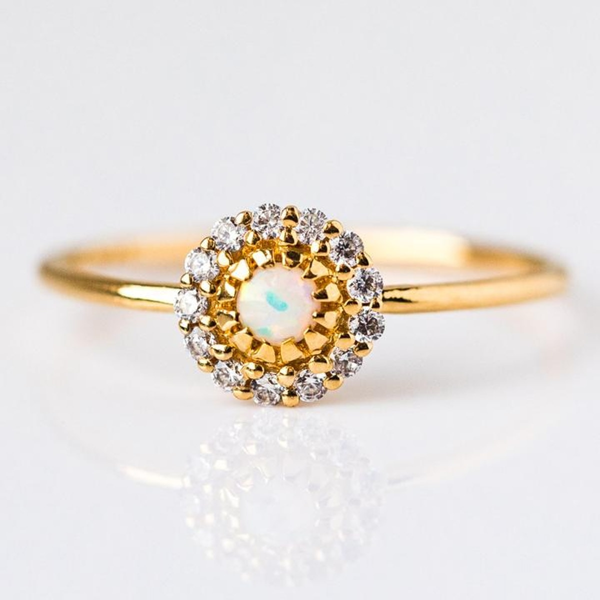Opal & Diamond Parisian Blossom Ring