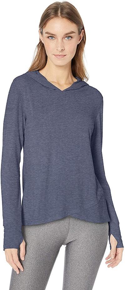 Amazon Essentials Women's Studio Long Sleeve Cross-Front Hoodie