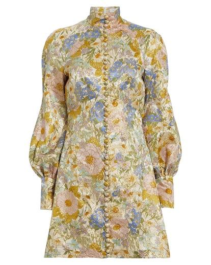 Super Eight Floral Brocade Dress