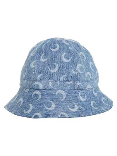 Blue Denim Moon Logo Bob Hat
