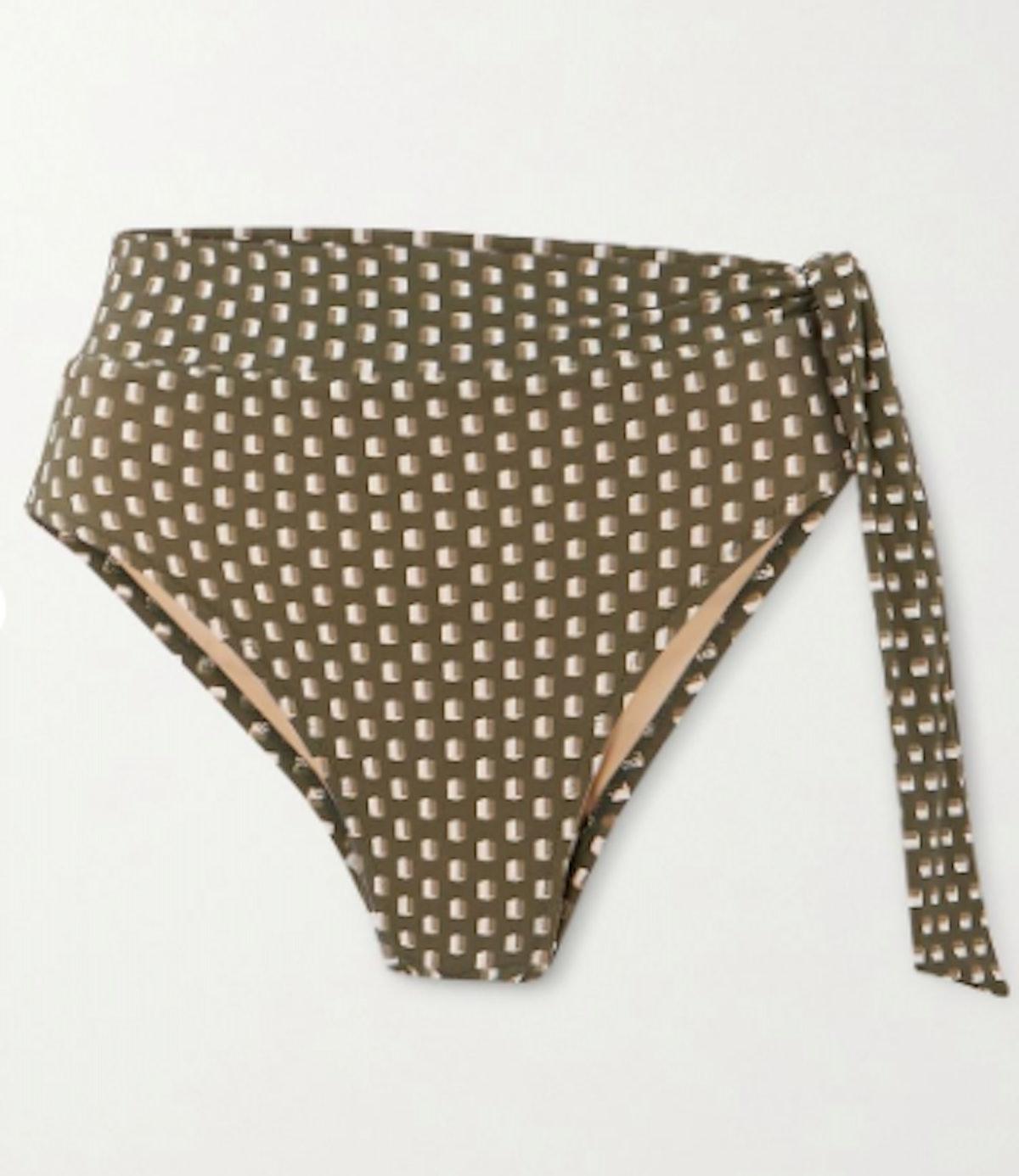 Yasmeen knotted printed bikini briefs