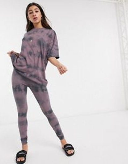 ASOS Design Two-Piece Legging In Tonal Tie Dye