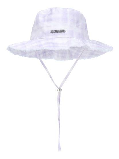 Le Bob Gingham Artichaut Gingham Lilac Hat