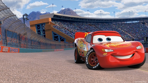 These14 Pixar movie Zoom backgrounds include a 'Cars' background.