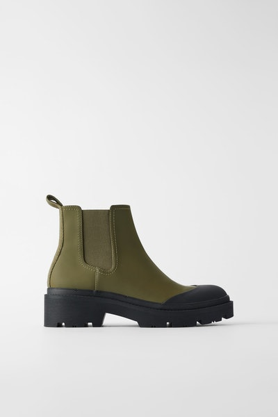 Zara Low Heled Technical Ankle Boots