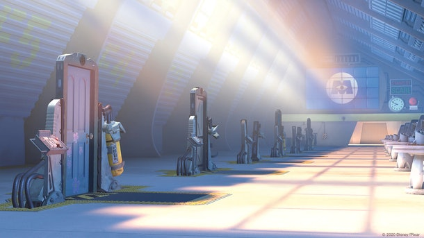 These14 Pixar movie Zoom backgrounds include a 'Monsters, Inc.' background.