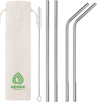 VEHHE Metal Straws (4-Pack)