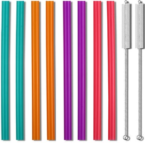 Zmaxqii Extra-Wide Straws (8-Pack)