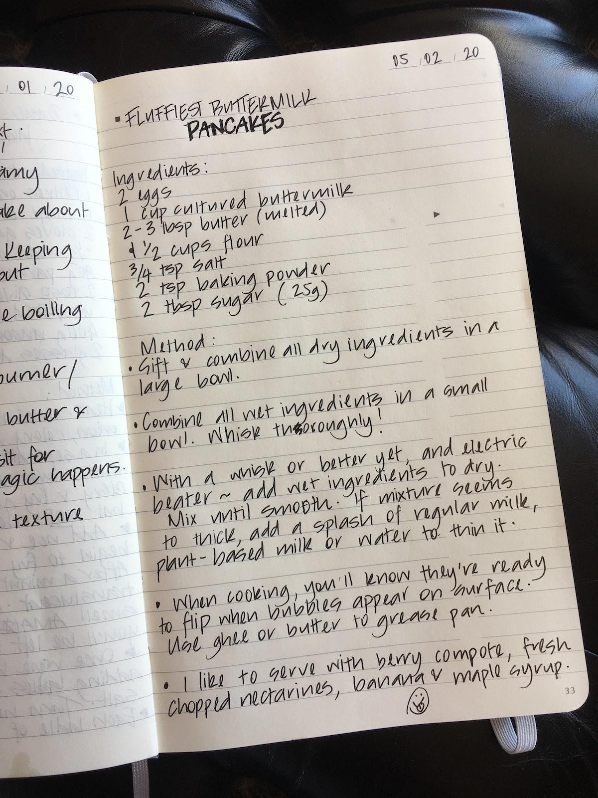 Collie's Buttermilk Pancake Recipe