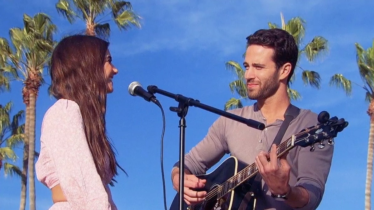 """Trevor Holmes sings to Jamie Gabrielle on ABC's """"The Bachelor Presents: Listen To Your Heart"""""""