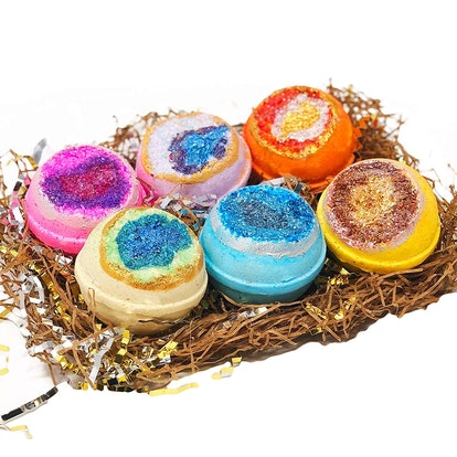 The Island Bath & Body Geode Crystal Bath Bombs (Set of 6)