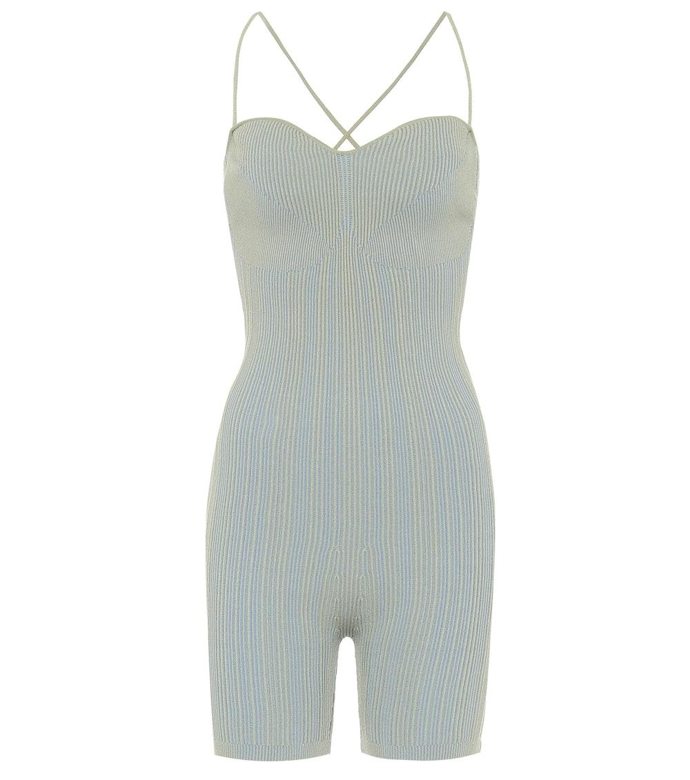 Jacquemus Le Body Arancia Ribbed-Knit Bodysuit