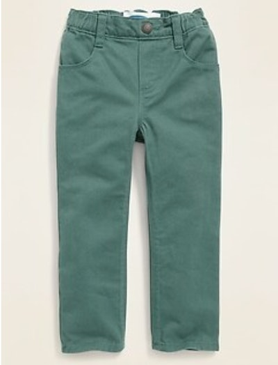 Straight Pull-On Pop-Color Jeans