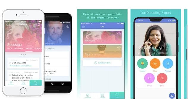 Screenshots of Parentship app interface