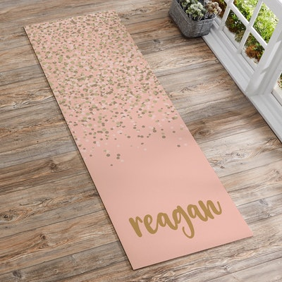 Sparkling Name Personalized Yoga Mat