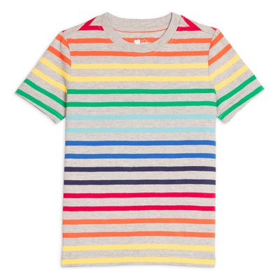 Kids Rainbow Stripe Classic Tee