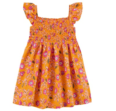 Floral Smocked Viscose Dress