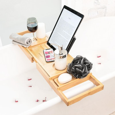 Bathtub Tray With Bookholder