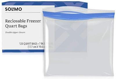 Solimo Freezer Quart Bags (120-Count)