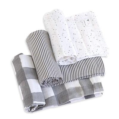 Burt's Bees Baby Muslin Cotton Baby Blankets (3-Pack)