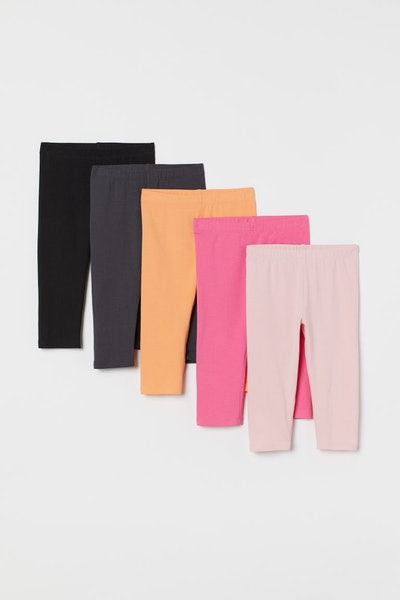 5-Pack Organic Cotton Leggins