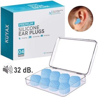 Kuyax Silicone Putty Earplugs (4 pairs)