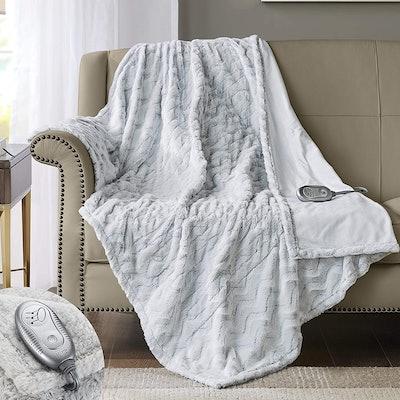 Hyde Lane Premium Faux Fur Heated Blanket
