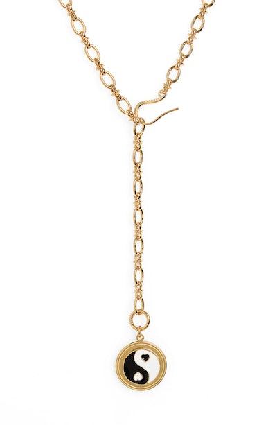 Yin Yang Adjustable Y-Necklace