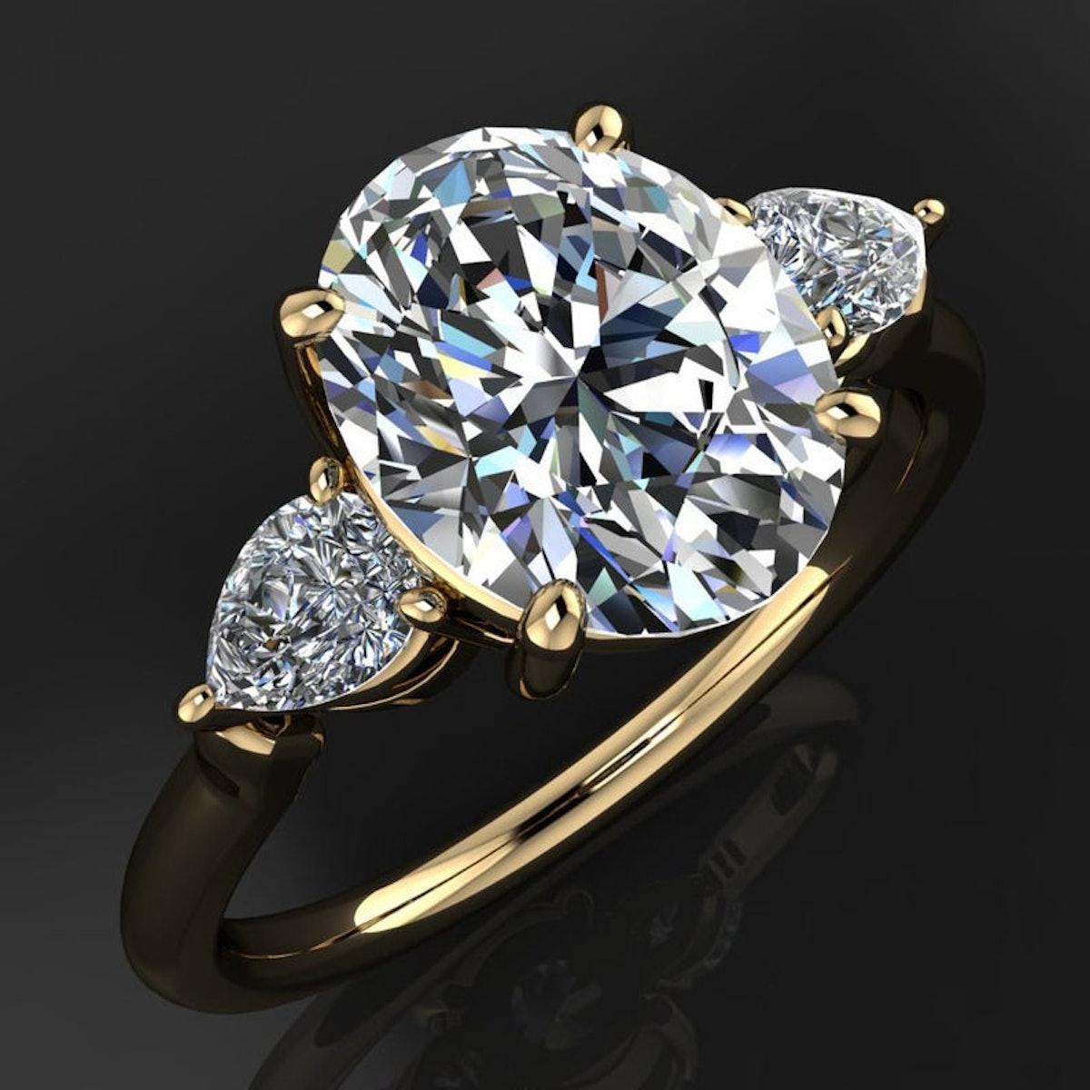 erica ring - 2 carat oval moissanite engagement ring