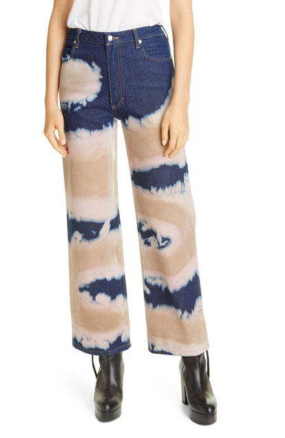 Dyed Wide Leg Jeans