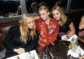 Mary-Kate, Ashley, and Elizabeth Olsen attend a NYLON party.