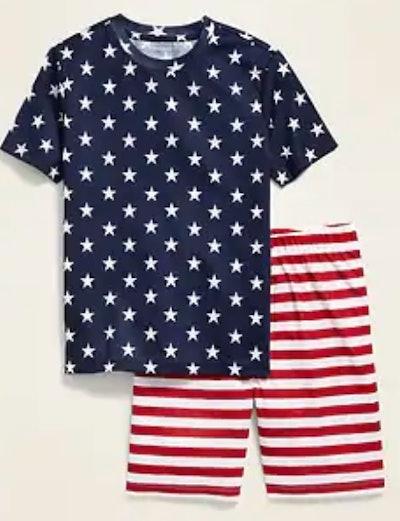 Graphic Pajama Tee & Pajama Shorts Set