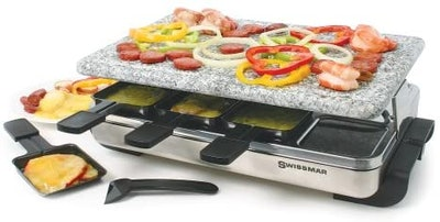 Swissmar Stelvio 8-Person Raclette With Granite Stone Top