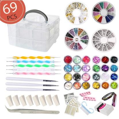 AIFAIFA Nail Art Kit (69 Pieces)