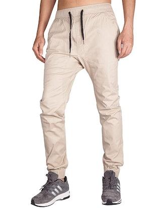 ITALY MORN Men's Chino Jogger Pants