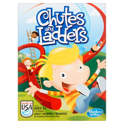 Chutes and Ladders Classic Family Board Game