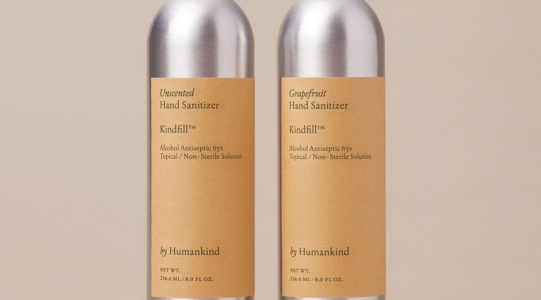 Eco-conscious brand by Humankind is now selling alcohol-based hand sanitizer in a grapefruit scent and an unscented version.