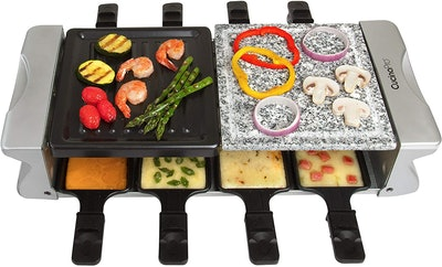 CucinaPro 8-Person Dual Raclette Table Grill