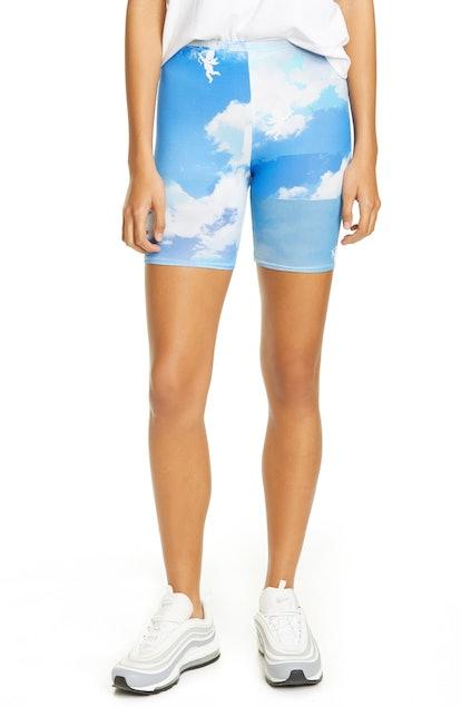 Cloud Print Bike Shorts